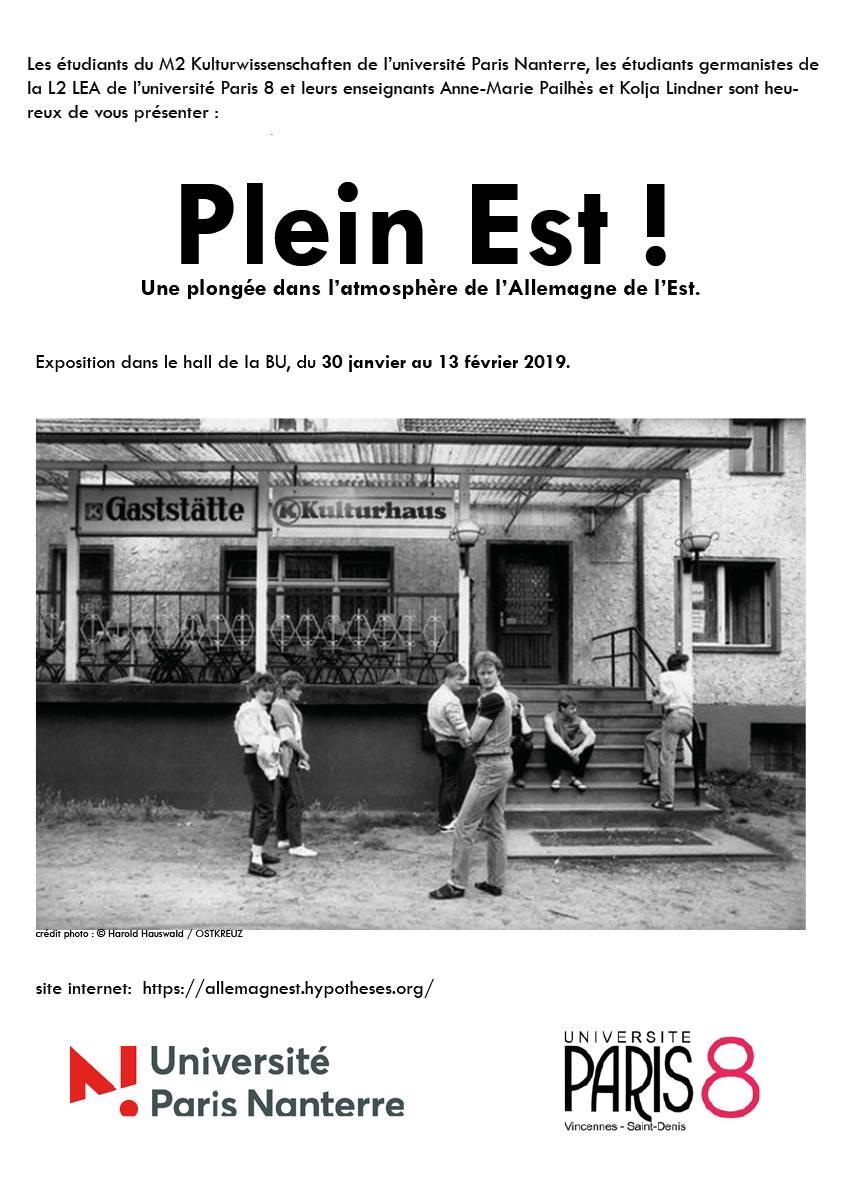 Plein Est : exposition photos de Harald Hauswald à l'Université de Nanterre, du 30 janvier au 13 février 2019
